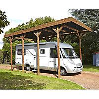 Carport bois Madeira Camping car