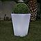 Vase lumineux carré Lobby Blanc H.70cm 13W