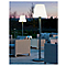 Lampadaire Batimex Standy acier/métal blanc H.180 cm IP44