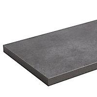 Tablette mélamine décor gris béton 120 x 20 cm