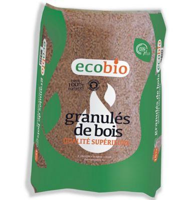 Granulés De Bois 15kg Ecobio Euro Energies Castorama