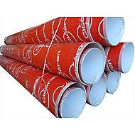 Tube de coffrage carton lisse ø200mm L.3 m