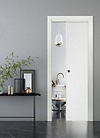 Porte coulissante Geom Summa blanchi 93 cm