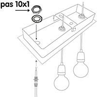 4 écrous + 4 rondelles éventails Diall acier