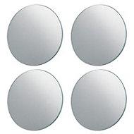 4 miroirs adhésifs ronds Pierre Pradel Ø20 cm