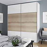 4 panneaux de portes coulissantes effet chêne GoodHome Atomia H. 56 x L. 98,7 cm