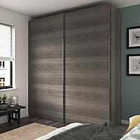 4 panneaux de portes coulissantes effet chêne grisé GoodHome Atomia H. 56 x L. 98,7 cm