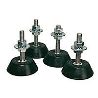 4 plots anti-vibratoire sol Qlima pour climatiseur fixe