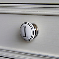 4 poignées bouton céramique carreau ciment noir 1 à 4
