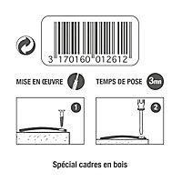 4 tournettes à visser Le crochet Français 50 mm
