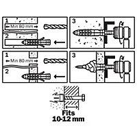 40 chevilles universelles Diall nylon CL Ø14x70mm