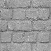 Papier peint duplex Rasch brick argent