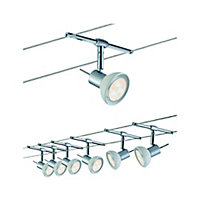 Système câbles SheelaLED chrome/opale 6x4W GU5,3