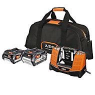 Chargeur de batterie et batterie AEG PRO 18V - 2Ah / 4Ah