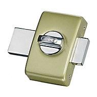 Verrou à bouton sans vis champagne ø23 mm / 45 mm Abus