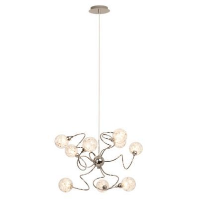 Suspension Brillant Joya chrome l.70 x H.135 cm