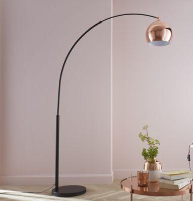 Lampadaire Brilliant Nereide cuivre H.202 cm