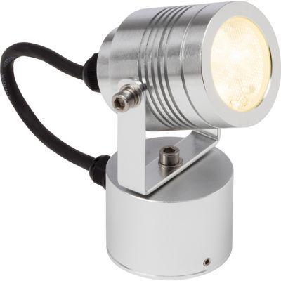 Projecteur extérieur à encastrer Brillant Tormedo alu H. 13 cm LED 3W