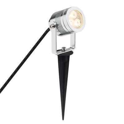 Projecteur extérieur à piquer Brillant Tormedo alu H. 27 5 cm LED 3W