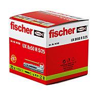25 chevilles universelles Fischer Ø8x50mm