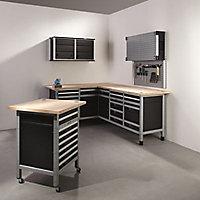 Etabli d'atelier Wolfcraft 65 cm 4 tiroirs