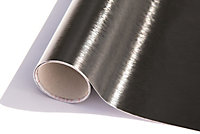 Adhésif métal Platino noir 67,5cm x 1,5m