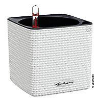 Pot cube Lechuza Color blanc 14 x 14 x h.14 cm