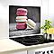 Fond de hotte en verre trempé décor macarons 60 x 50 cm
