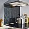Fond de hotte en verre trempé décor ardoise 60 x 70 cm