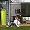 Récupérateur d'eau GARANTIA Color apple 350L + bac à plantes