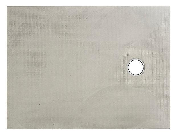 Receveur à carreler rectangulaire gris Q BOARD Liquid 90 x