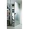 Porte de service acier galvanisé Multiserv 88,2 x h.207,3 cm réversible