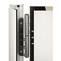 Porte d'entrée acier Hormann Tps 015 blanc 90 x h.215 cm poussant droit