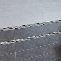 Listel gris 5 x 30 cm Pieretta