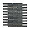 Mosaïque barettes 30 x 30 cm Ardoise