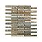 Mosaïque barettes 30 x 30 cm Métamorphit