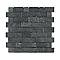 Mosaïque ardoise briques noir