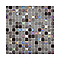 Mosaïque verre gris irisé 2 x 2 cm