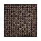 Mosaïque verre brun nacré 30 x 30 cm