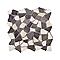 Mosaïque galet blanc et noir Palladiana