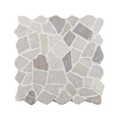 Mosaïque galet gris 30 x 30 cm Palladiana | Castorama
