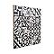 Mosaïque carreaux de ciment blanc et noir 7 x 7 cm