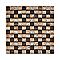 Mosaïque verre mix marron 2,3 x 2,3 cm