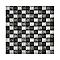 Mosaïque verre mix gris 2,3 x 2,3 cm