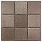 Mosaïque pierre brun vintage 30,8 x 30,8 cm