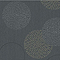 Papier peint expansé sur intissé Fleurs bulles gris