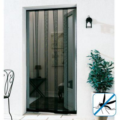 Rideau moustiquaire de porte en pvc gris 100 x h.220 cm   Castorama
