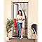 Rideau moustiquaire de porte en pvc gris 100 x h.220 cm