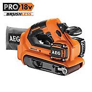 Ponceuse à bande AEG Pro BHBS18-75BL-0 18V (sans batterie)