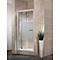 Porte de douche pivotante extens. 79-91 cm blanc dépoli Vita
